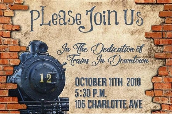 Trains in Downtown Dedication