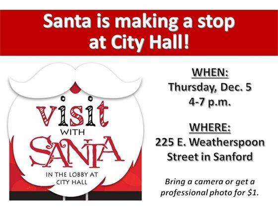 Santa Visit to City Hall