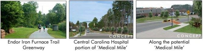 Endor Iron Furnace Trail Greenway, Central Carolina Hospital portion of Medical Mile