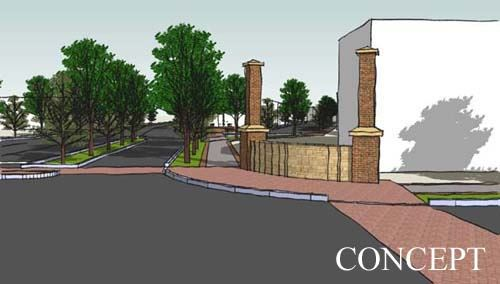 Drawing of the proposed Main Street and Lee Avenue Bond project